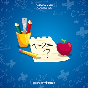 Cartoon math elemente hintergrund