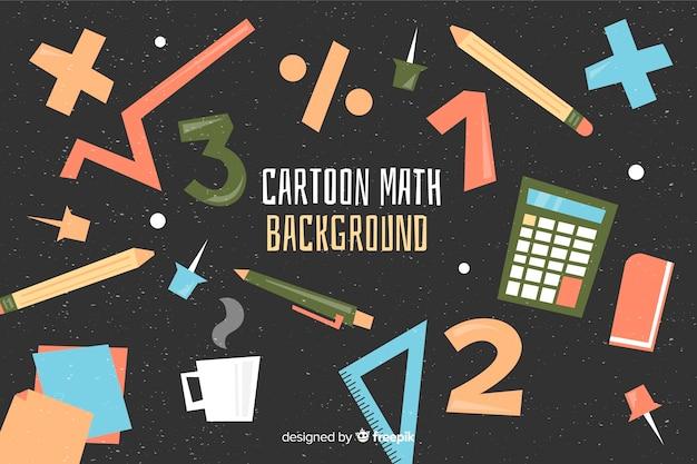 Cartoon mathe hintergrund