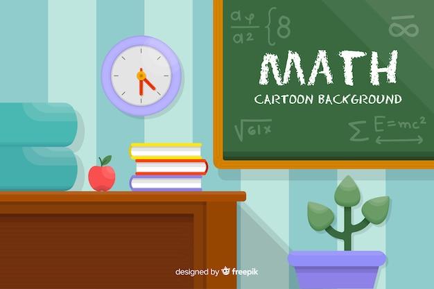 Cartoon mathe konzept hintergrund
