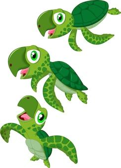 Cartoon meeresschildkröte