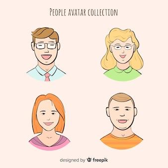 Cartoon menschen avatar pack