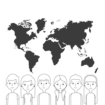 Cartoon menschen symbol