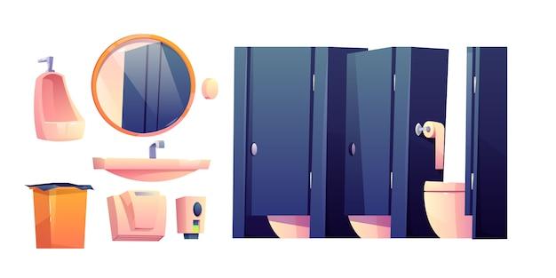 Cartoon-möbel für die öffentliche toilette