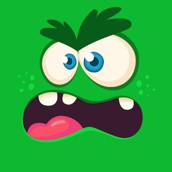 Cartoon monster gesicht avatar. halloween-monster