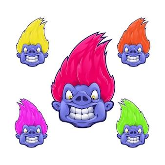 Cartoon-monster
