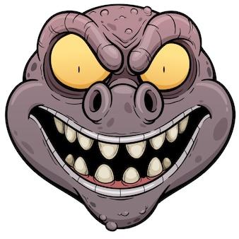 Cartoon monstergesicht