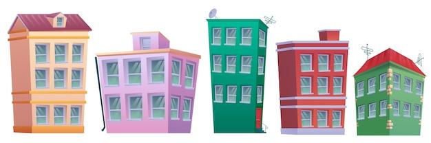 Cartoon nach hause immobilien gesetzt