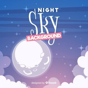 Cartoon nachthimmel hintergrund