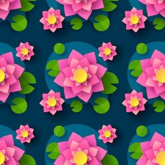 Cartoon nahtlose lotus hintergrund