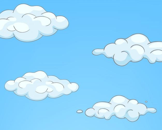 Cartoon natur himmel wolken