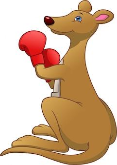 Cartoon niedlichen känguru boxen