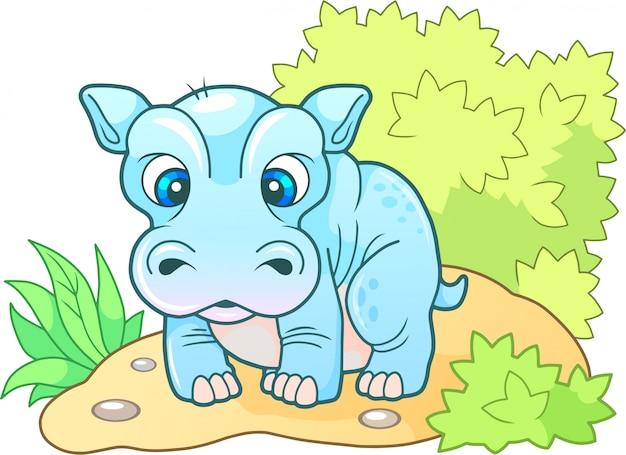 Cartoon nilpferd