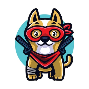 Cartoon ninja hund