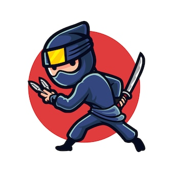 Cartoon ninja nacht