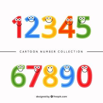 Cartoon-nummer-sammlung mit charakteren