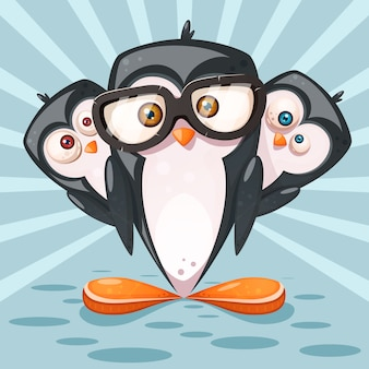 Cartoon-pinguin-figuren