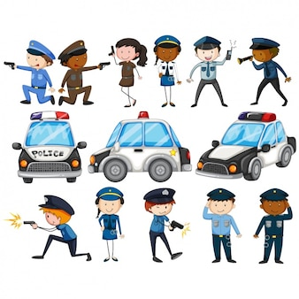 Cartoon polizei