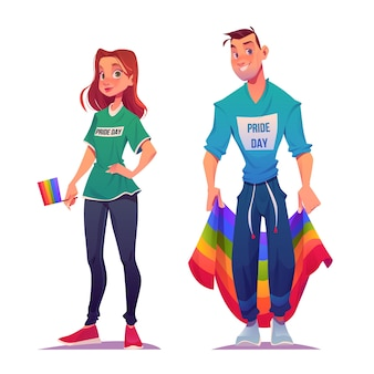 Cartoon pride day paar sammlung