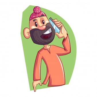 Cartoon punjabi sardar