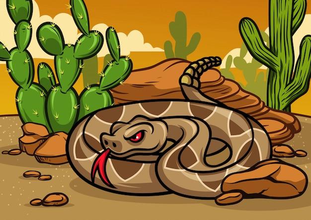 Cartoon-rassel-schlange