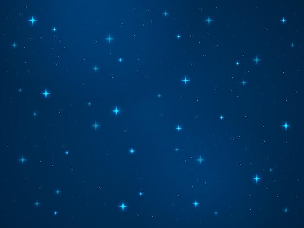 Cartoon raum hintergrund. sterne kosmos nacht sternenhimmel universum staub licht stern milchstraße galaxie astronomie textur konzept