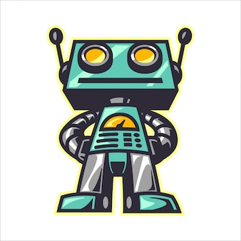 Cartoon retro roboter