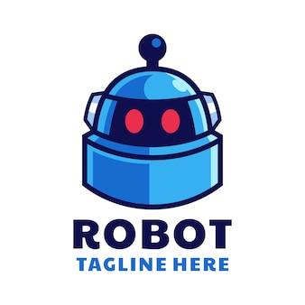 Cartoon roboterkopf logo design