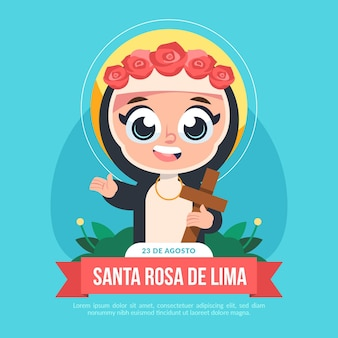 Cartoon santa rosa de lima abbildung