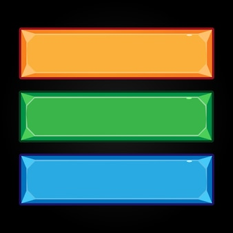 Cartoon-schaltflächen für die benutzeroberfläche des spiels