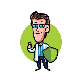 Cartoon schutzarzt