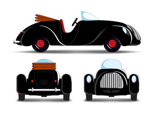 Cartoon schwarzes auto
