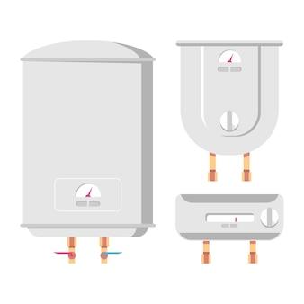 Cartoon-set für warmwasserbereiter