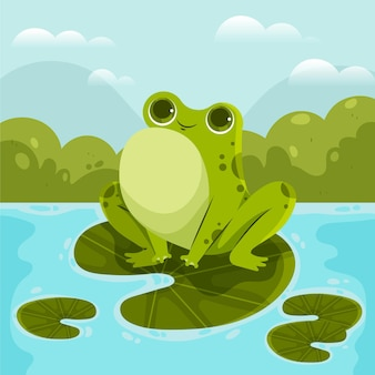 Cartoon smiley frosch illustration