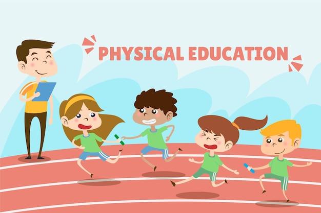 Cartoon sportunterricht tag abbildung