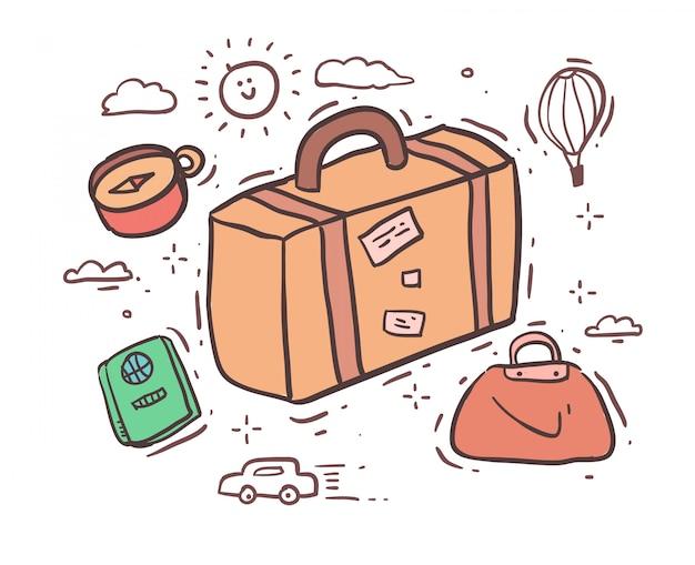 Cartoon-stil zu reisen
