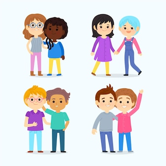 Cartoon stolz tag menschen sammlung