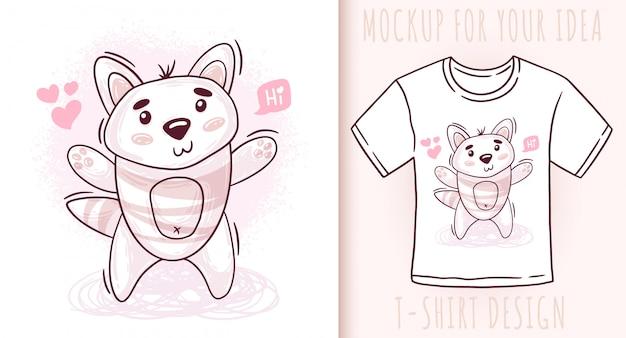 Cartoon süße baby katze.