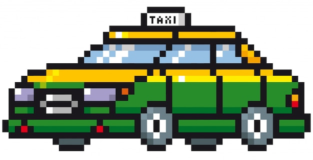 Cartoon taxi auto