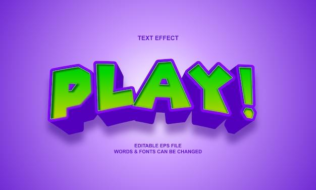 Cartoon text effekt