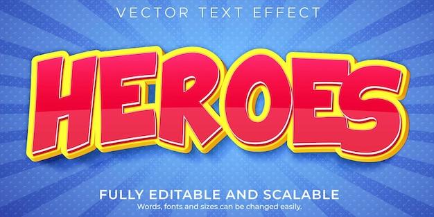 Cartoon-texteffekt-stilvorlage Premium Vektoren