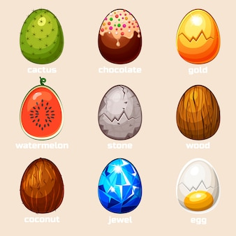 Cartoon textur eier