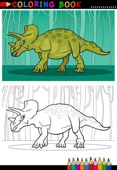 Cartoon triceratops dinosaurier für malbuch