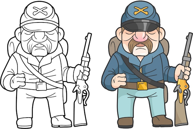 Cartoon usa soldat illustration