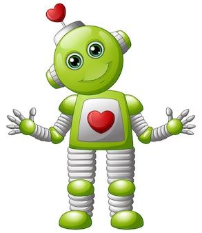 Cartoon valentine roboter