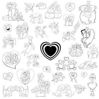 Cartoon-valentines-sammlung