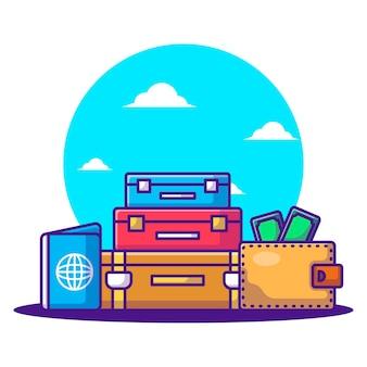 Cartoon-vektor-illustrationen tourismus-element. konzept für den welttourismustag