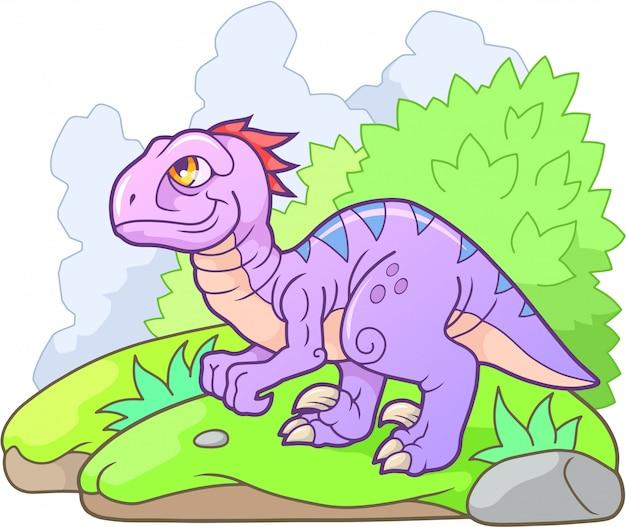 Cartoon velociraptor