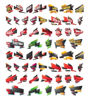 Cartoon verkauf verkauf banner, abzeichen, aufkleber, tags