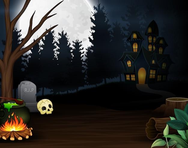 Cartoon von kochtränken auf der homepage