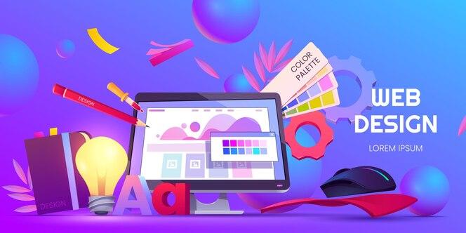 Cartoon-webdesign-hintergrund